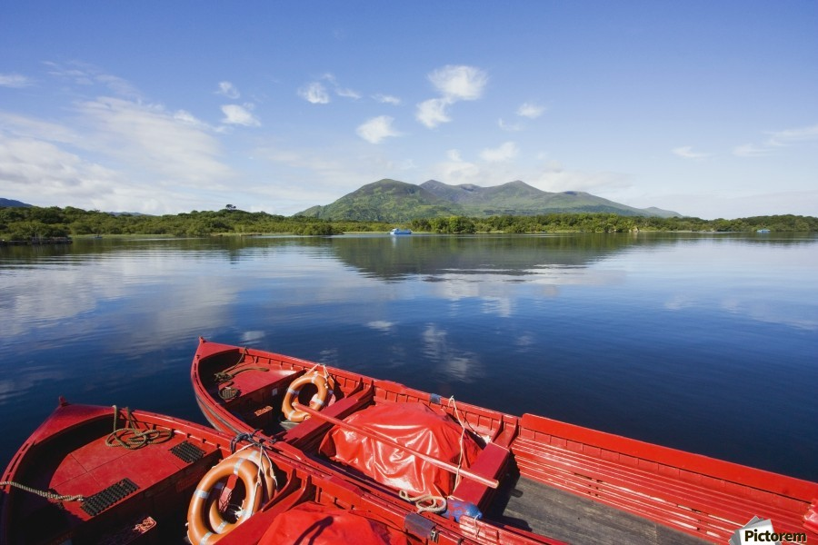 Killarney, County Kerry, Munster, Ireland; Two Boats In The Water  Print