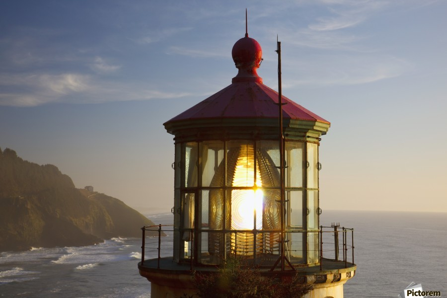 Heceta Head Lighthouse Along The Oregon Coast; Florence, Oregon, United States Of America  Print