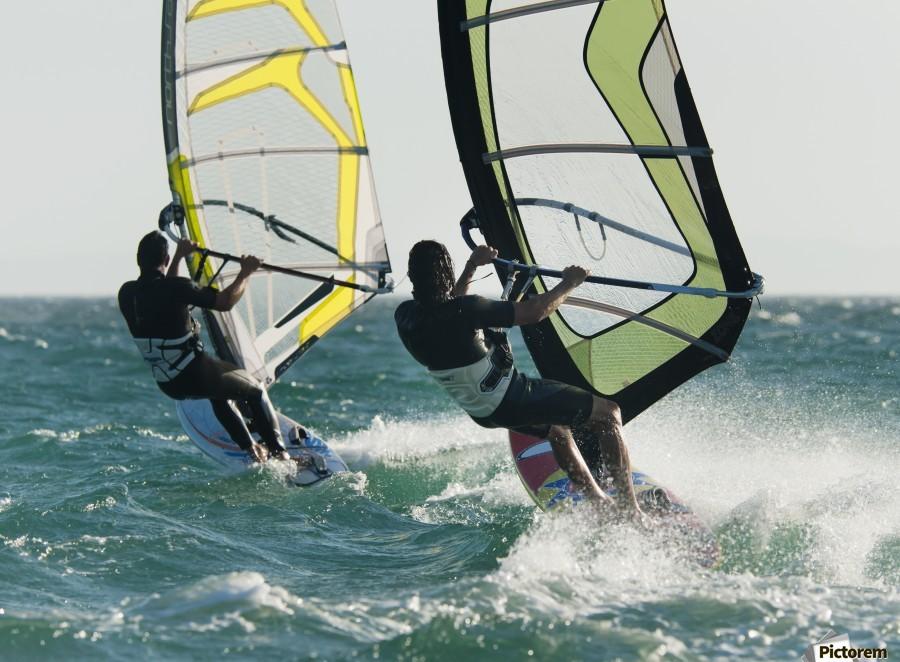 Windsurfing; Tarifa, Cadiz, Andalusia, Spain  Print