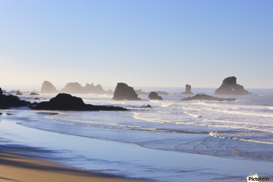 Tide At Indian Beach; Oregon, United States Of America  Print