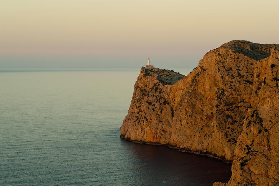 Views Of The Lighthouse At Sunset, Cap De Formentor, Mallorca, Balearic Islands, Spain  Print