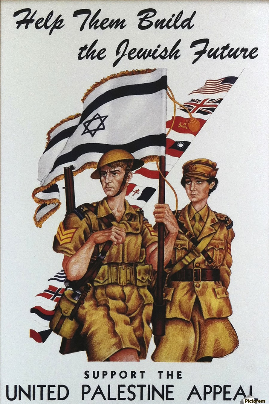 1942 United Israel appeal poster  Print