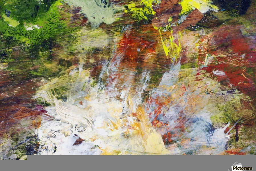Abstract Oil Painting On Canvas  Print