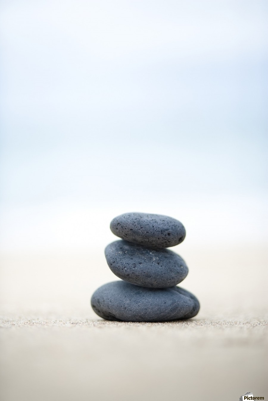 Stack Of Stones On Sand, Selective Focus.  Print