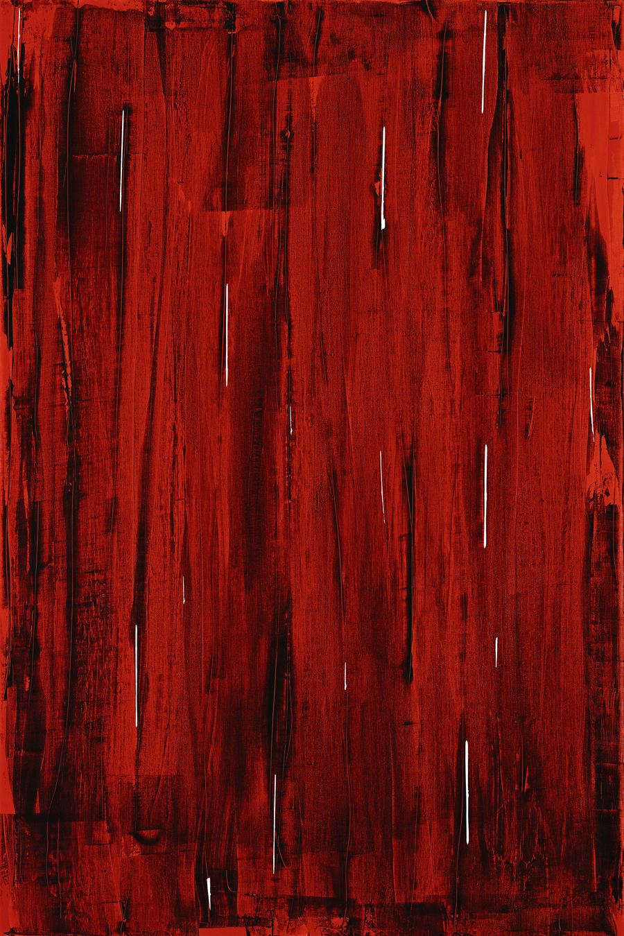 Rain, Abstract Painting In Red And Black (Acrylic Painting).  imprimons