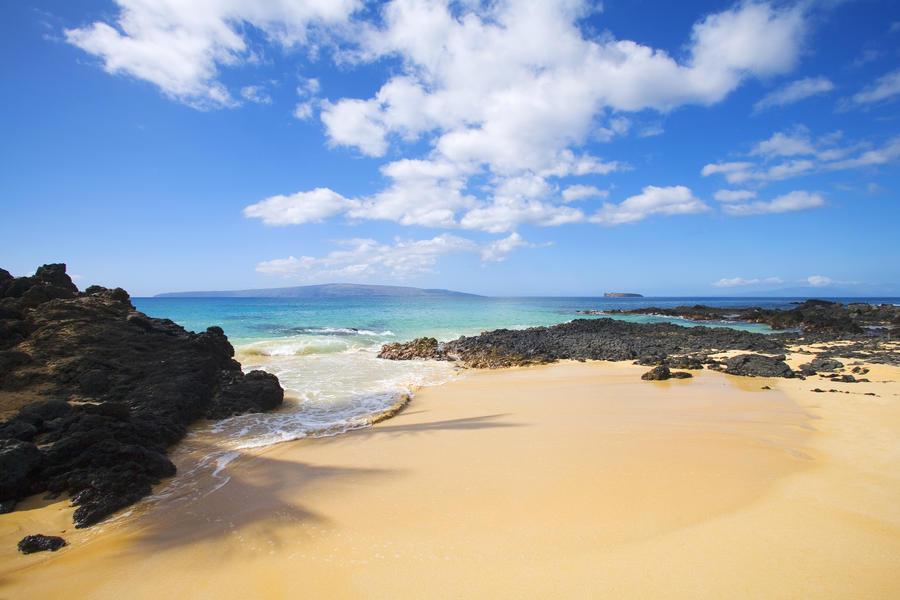 USA, Hawaii Islands, Maui, Maui Wai Or Secret Beach; Makena  Print