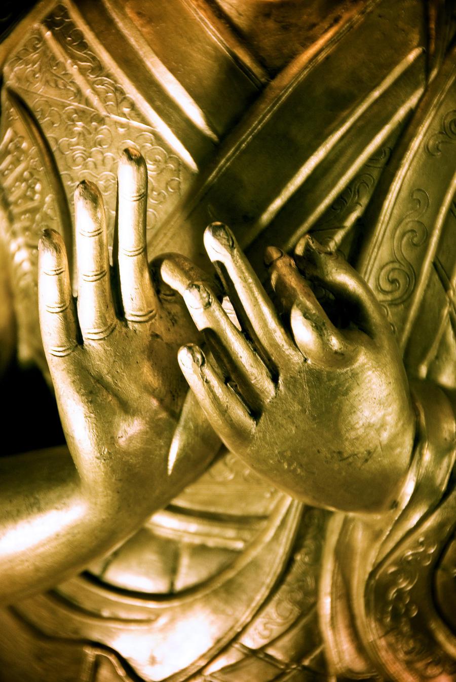 China, Buddha Hands Found On Hollywood Road; Hong Kong  Print