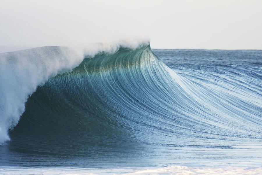Hawaii, Oahu, Beautiful Wave Breaking.  Print