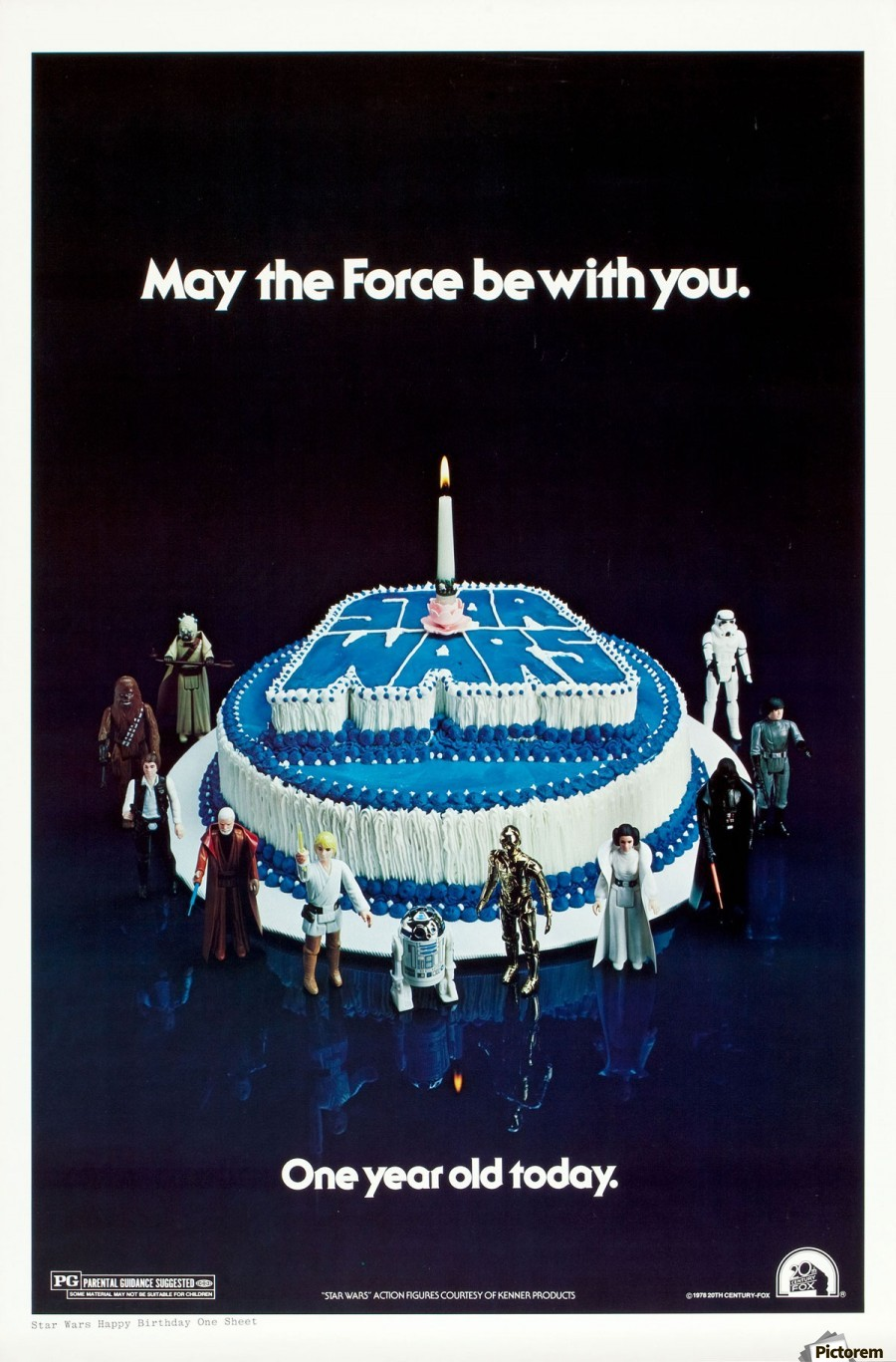 Enjoyable 1978 Star Wars Birthday Cake Poster Vintage Poster Personalised Birthday Cards Paralily Jamesorg