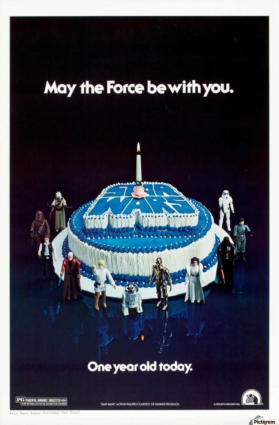1978 Star Wars Birthday Cake Poster Vintage Poster Canvas