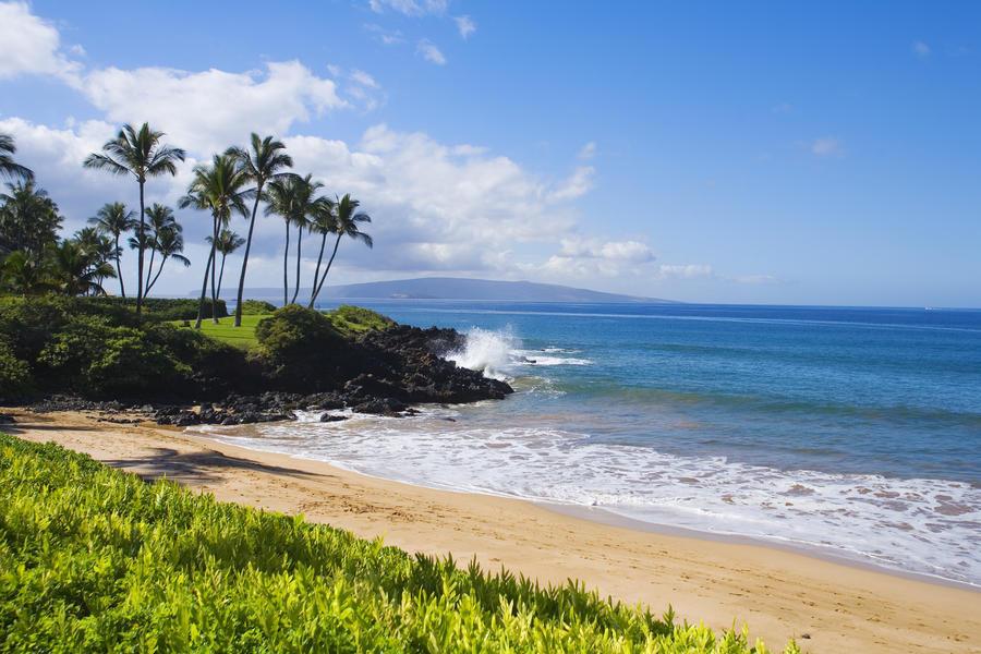 Hawaii, Maui, Wailea, Beautiful Ulua Beach.  Print