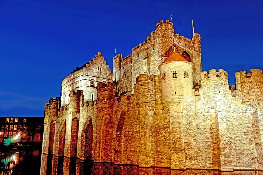 Castle of the Counts Belgium  Print