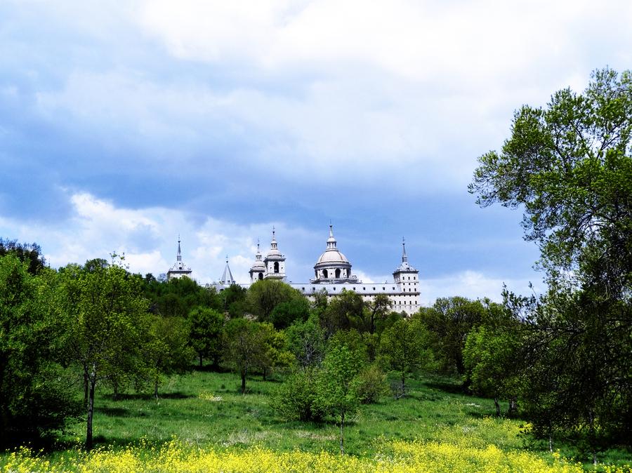 Casita del Principe 2 of 7 - Park and Gardens - The Royal Monastery of San Lorenzo de El Escorial - Madrid Spain  Print