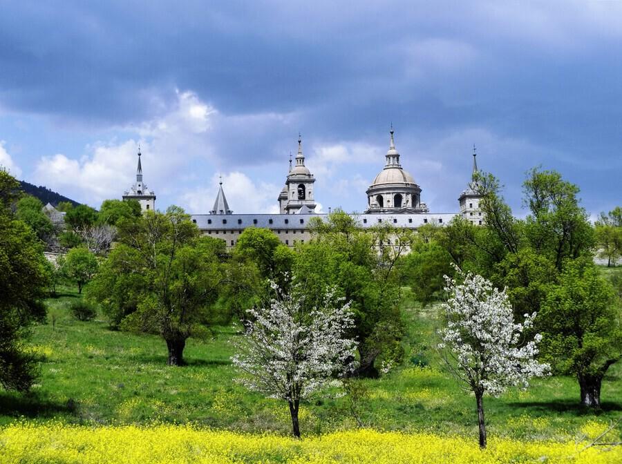 Casita del Principe 5 of 7 - Park and Gardens - The Royal Monastery of San Lorenzo de El Escorial - Madrid Spain  Print