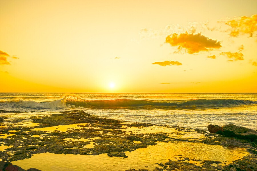 Golden Moment - Sunset Hawaiian Islands  Print