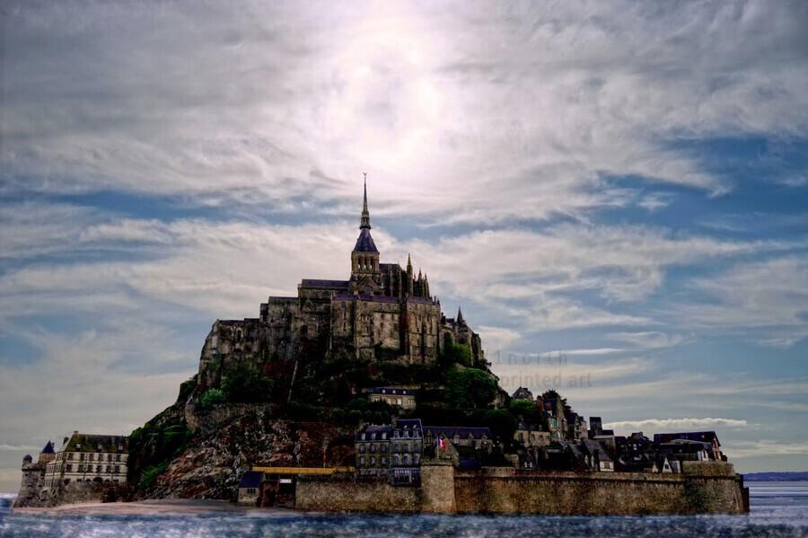 Mount Saint Michael The Fires of Heaven - Normandy France  Print