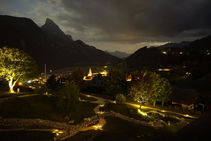 Night Arrives in the Saanen Valley in Switzerland  Print