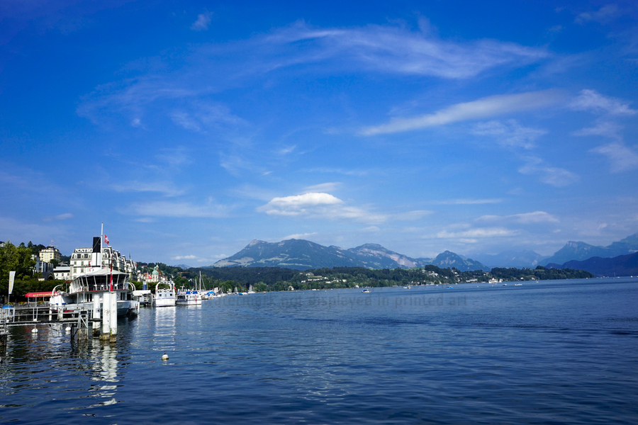 On the Shores of Lake Lucerne  Print