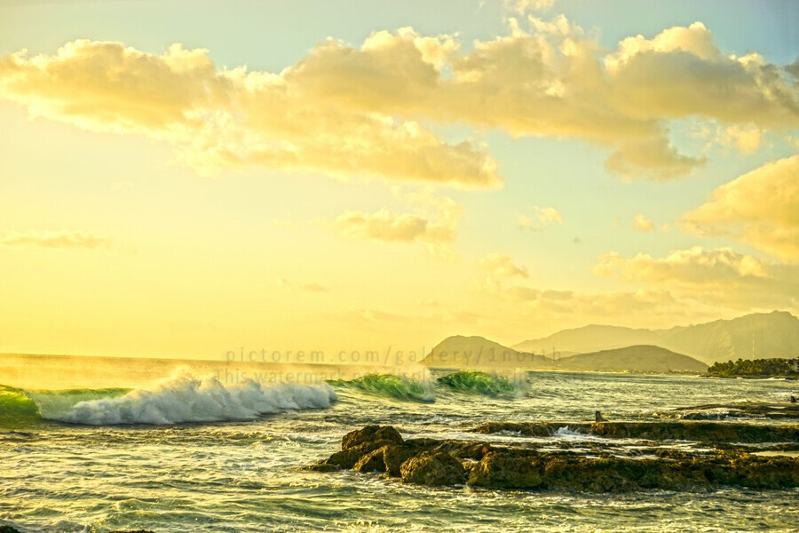 Perfect Day - Sunset Hawaiian Islands  Print
