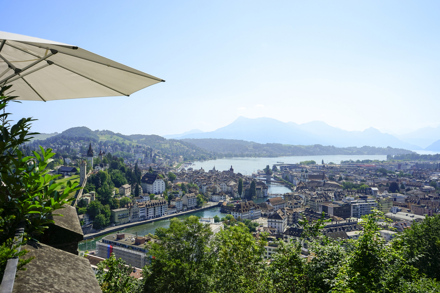 Stunning View to Lake Lucerne in the Central Swiss Alps  Print