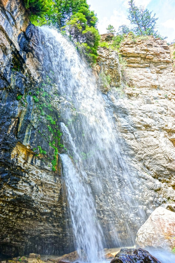 Rocky Mountain Rapids and Waterfalls 5 of 8  Print