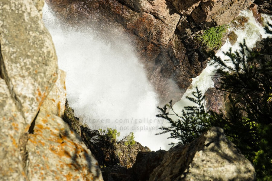 Rocky Mountain Rapids and Waterfalls 4 of 8  Print