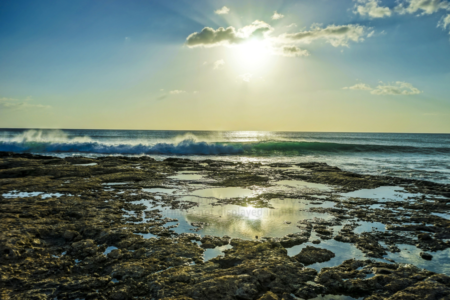 Waves Breaking on the Sea Shore   Hawaii  Print