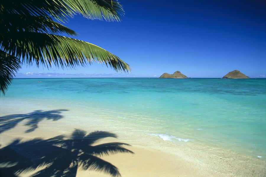 Hawaii, Oahu, Lanikai Beach With Calm Turquoise Water