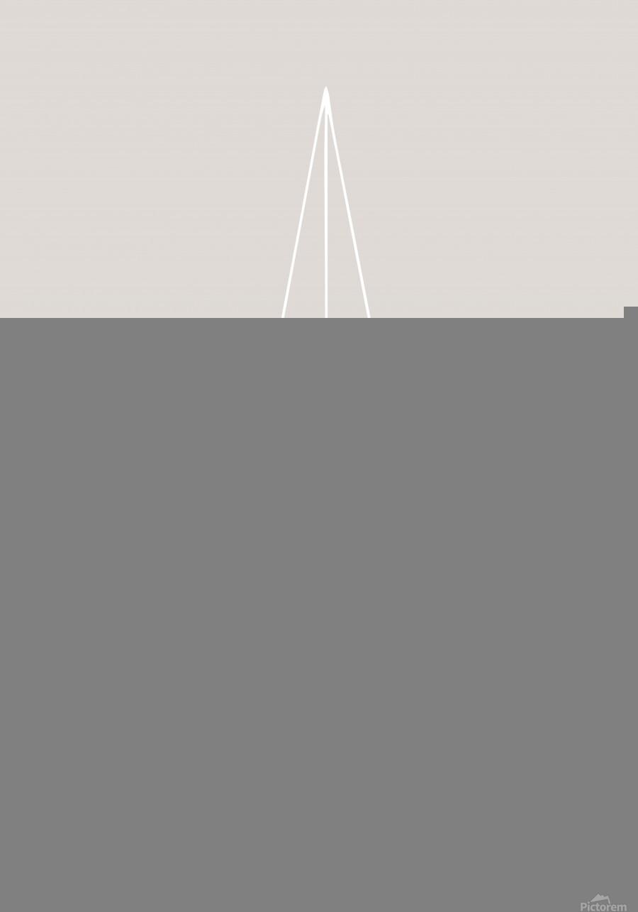 Grid Star Grey  Print