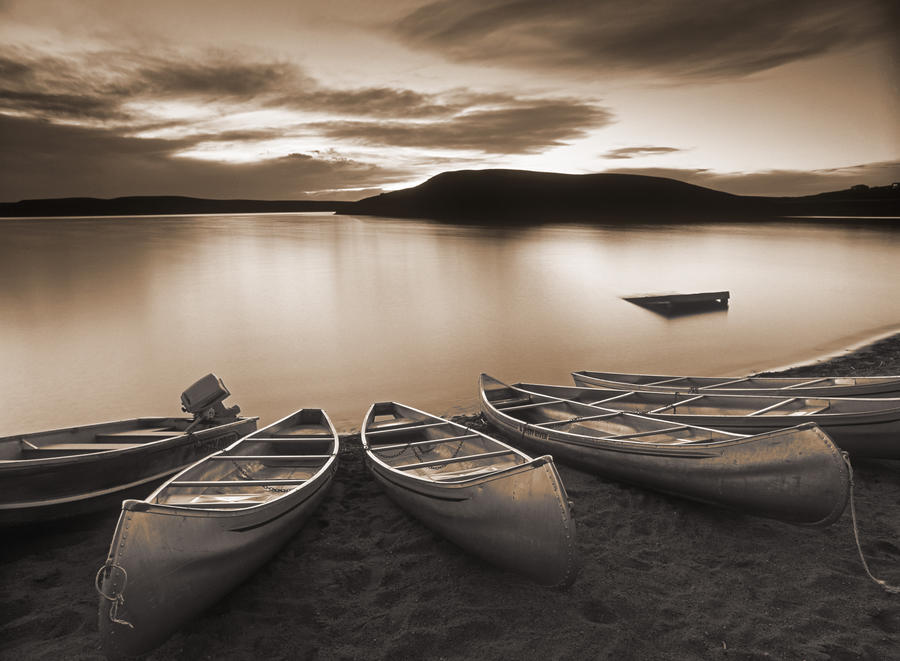 Elkwater Lake, Cypress Hills Interprovincial Park, Eklwater Alberta Canada.  Print
