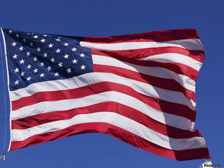 American Flag; Pahreah, Utah, United States of America  Print