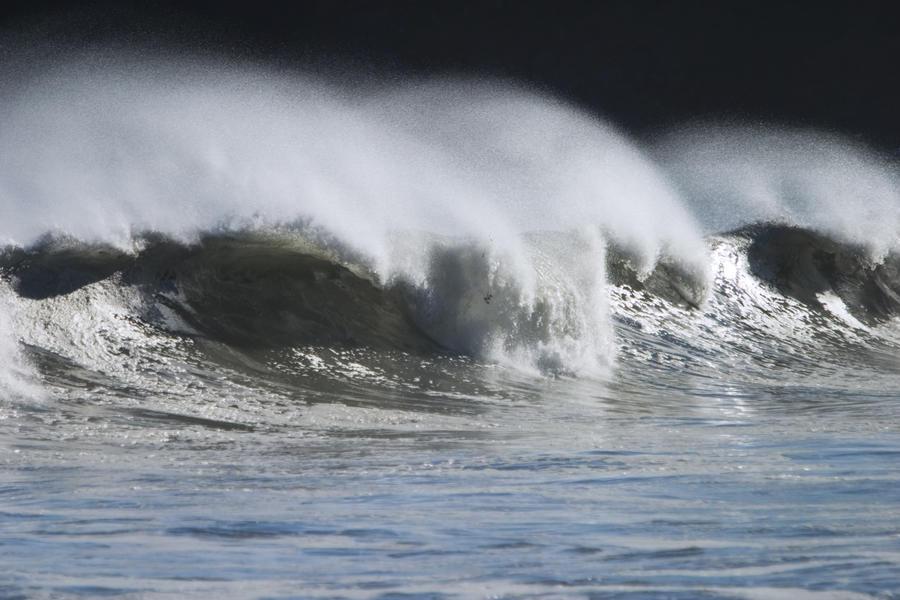 Waves Crashing On Mill Bay Beach Kodiak Island Southwest Alaska Autumn  Print