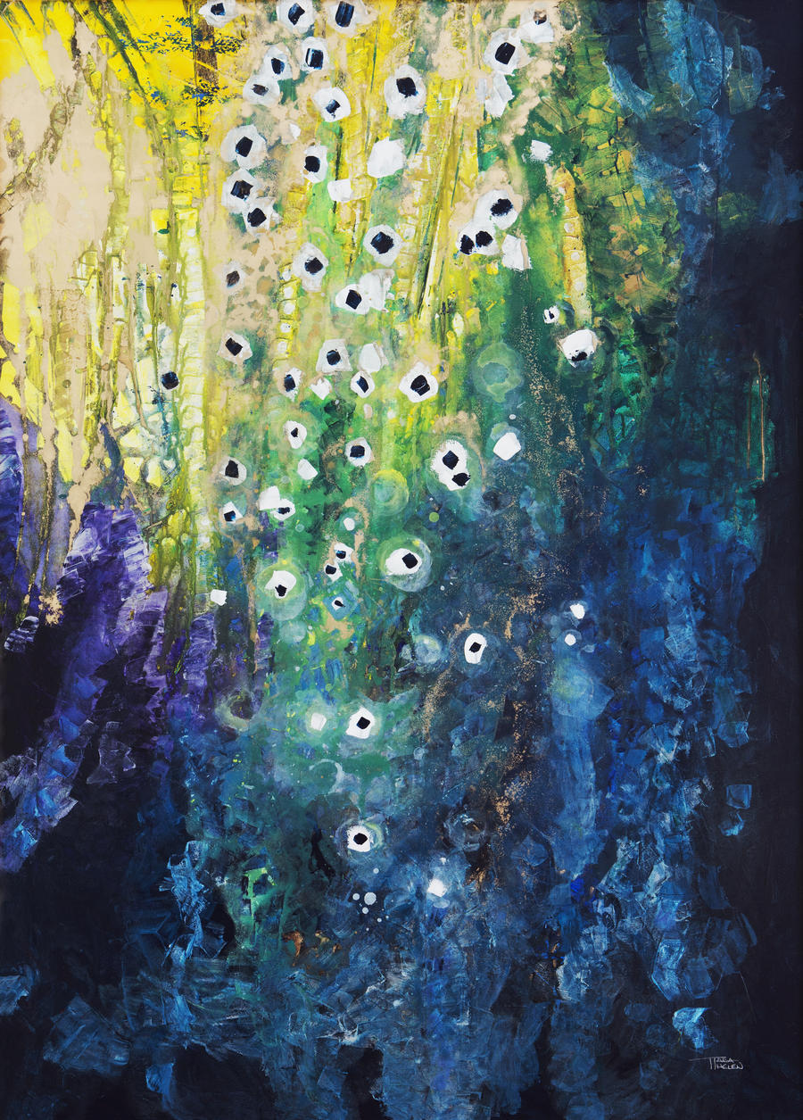 Canvas print abstract watercolor painting