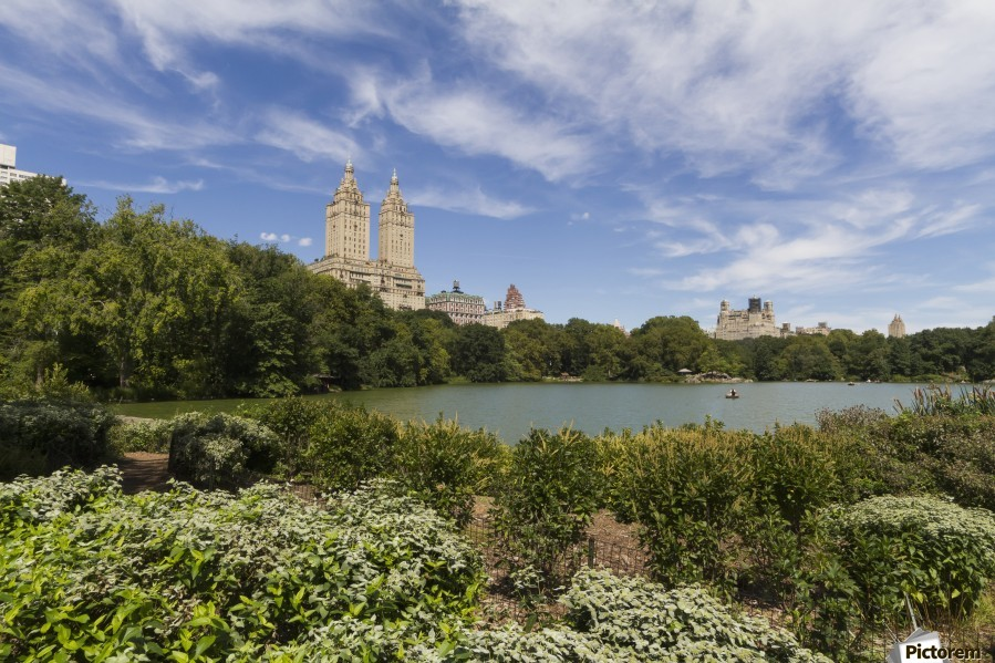 The Lake in Central Park, New York City, New York, United States  Print