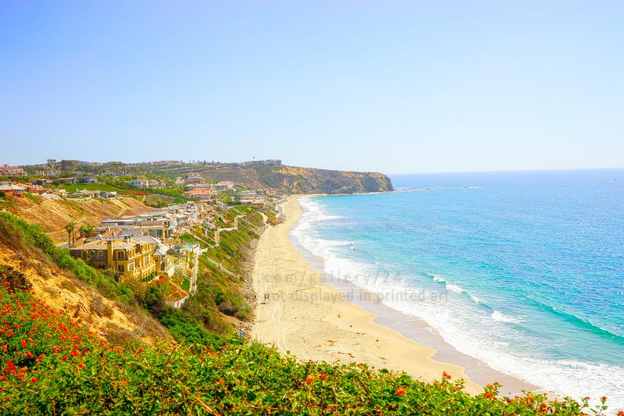 Beautiful Coastal View Newport Beach California 2 of 2  Print