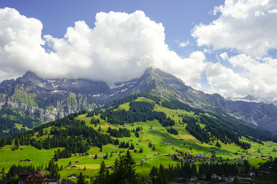 Beautiful Day in the Swiss Alps 2 of 2  Print