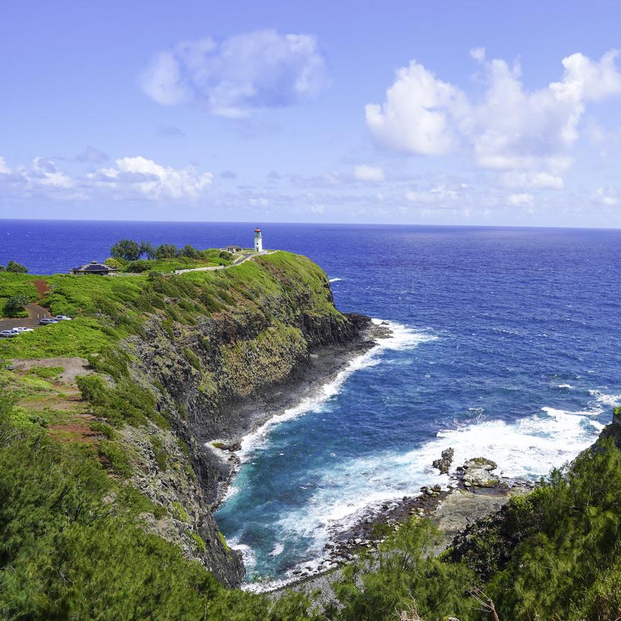 Kilauea Lighthouse on the Island of Kauai Square  Print