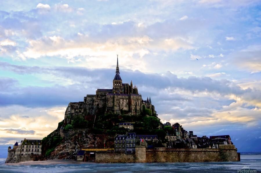 Mont St Michael Rising Tide - France  Print
