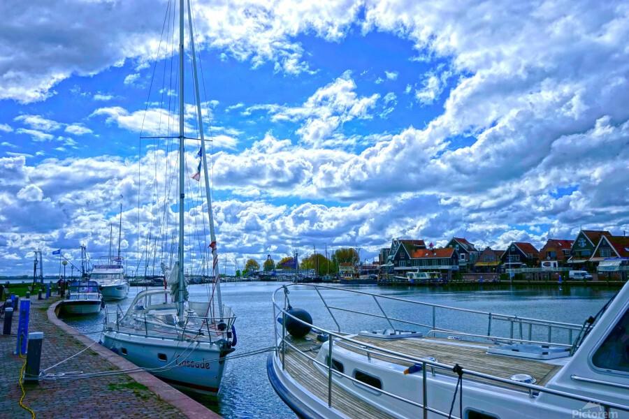 Inland Harbor Netherlands 2 of 5  Print