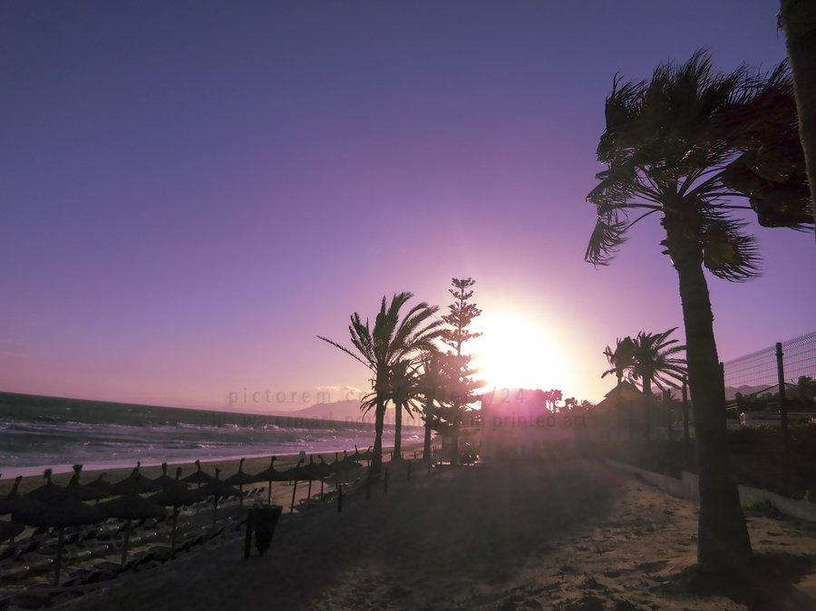 Sunset   Costa Del Sol   Andalusia Spain  Print