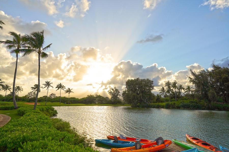 Sunset by the Lakeshore in Kauai  Print
