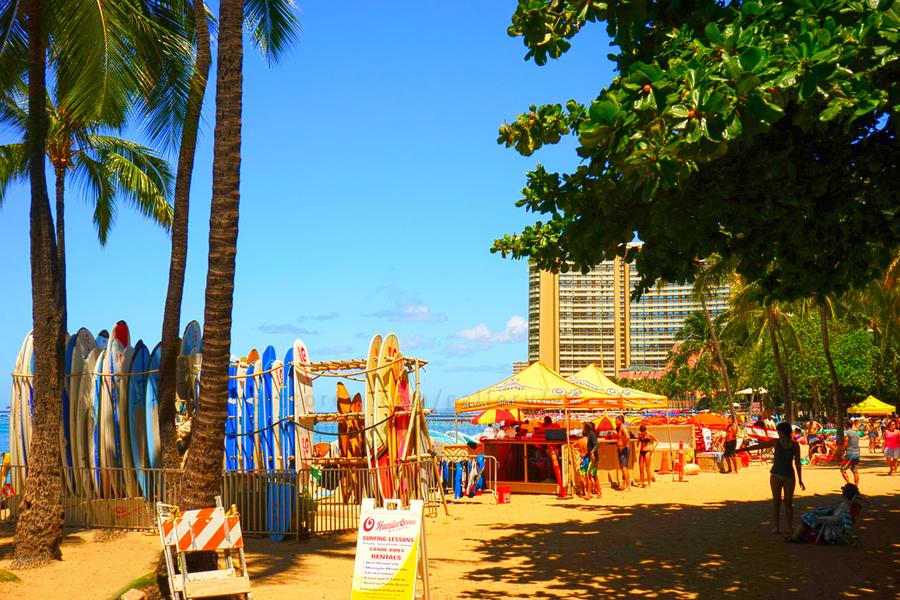 Waikiki Snapshot in Time 2 of 4  Print