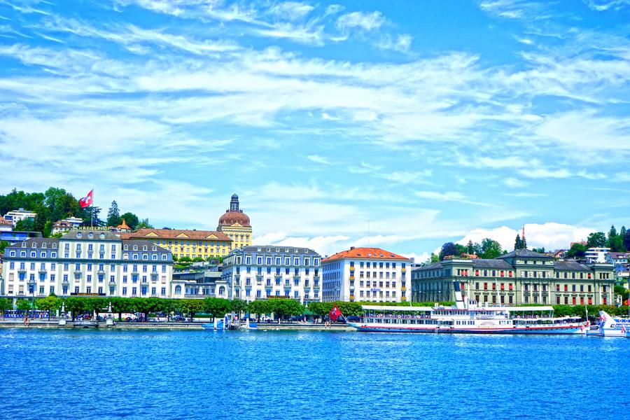 Waterfront   Lucerne Switzerland 2 of 3  Print