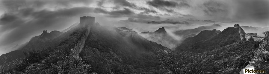 Misty Morning at Great Wall  Print