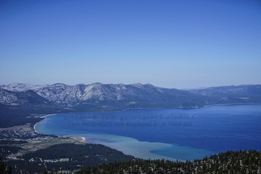 Lake Tahoe View - Tahoe California USA  Print
