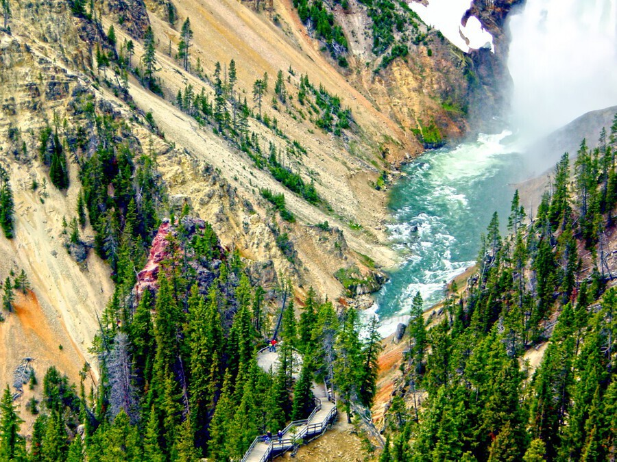 Mighty Yellowstone 3 - Grand Canyon of the Yellowstone River - Yellowstone National Park  Print