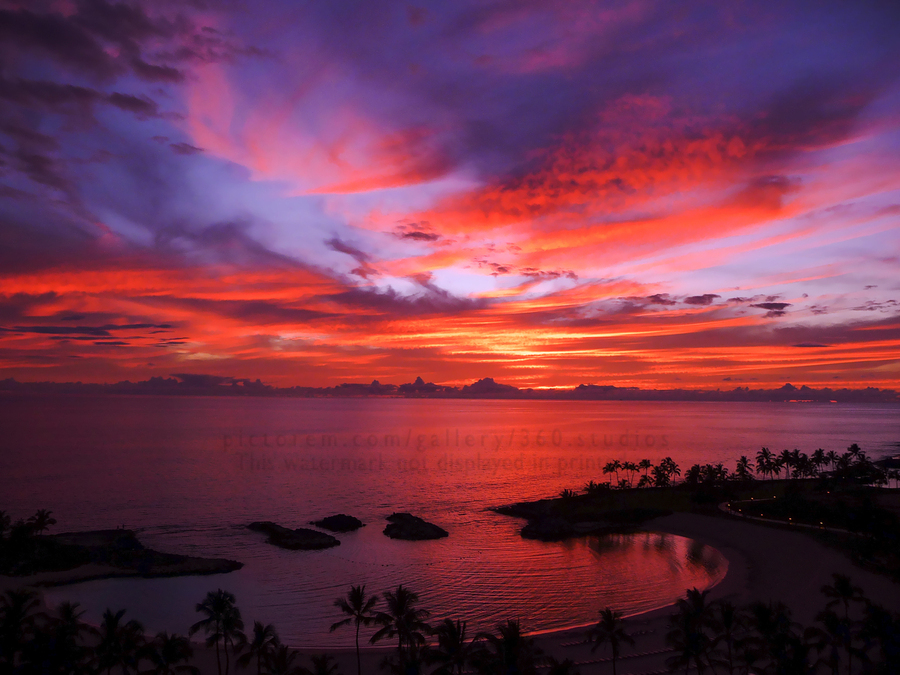 Euphoria Before Bliss - 2013 ARTWORK OF THE YEAR WINNER - Pink and Orange Kissed Skies over Hawaii at Sunset  Print