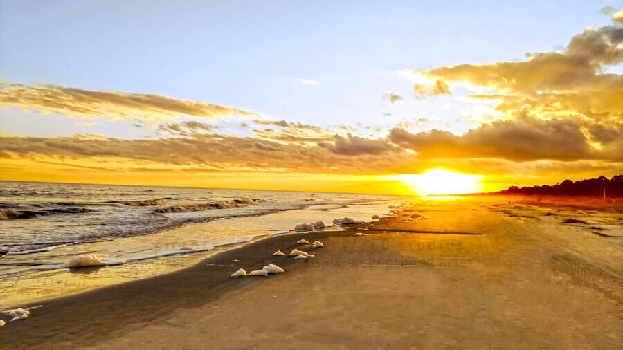 The Summer Sun Sets in the Carolinas  Print