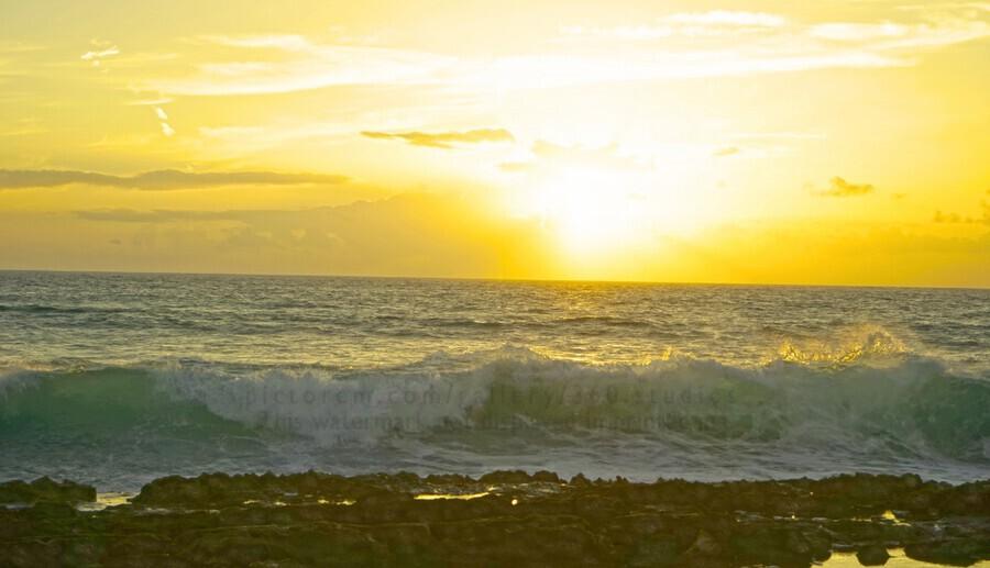 Waves at Sunset  Print