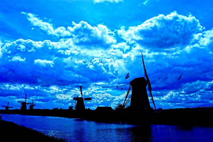 Windmills of the Netherlands 4 of 4  Print